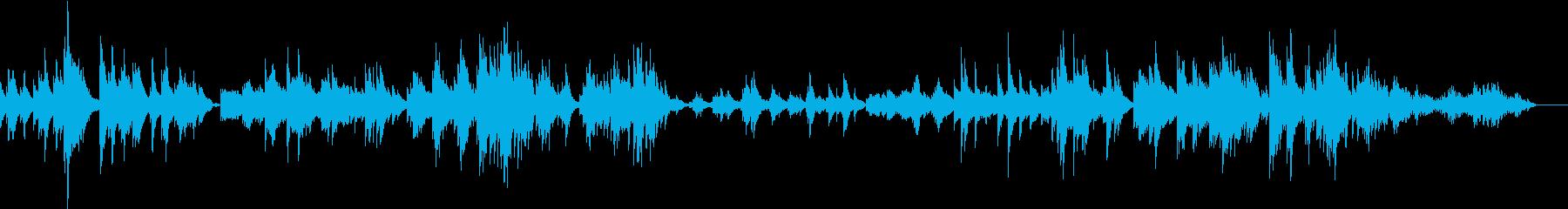 メランコリックで静かなピアノ曲の再生済みの波形