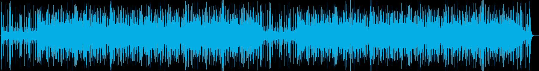 爽やか、わくわく感のシンセポップ曲の再生済みの波形