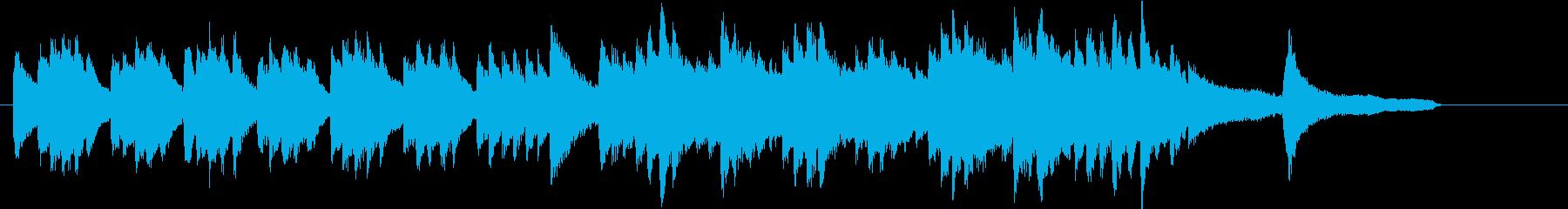 悲壮感のピアノワルツの再生済みの波形
