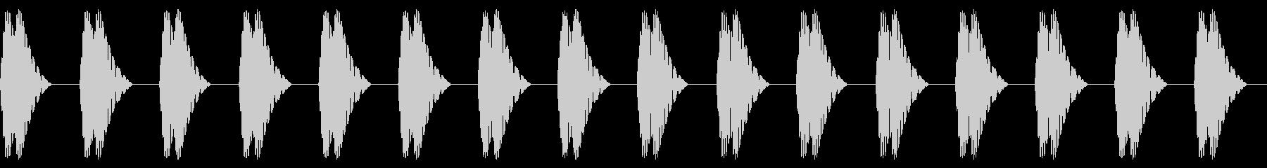 バクバク(心音/脈拍180/運動/動悸)の未再生の波形