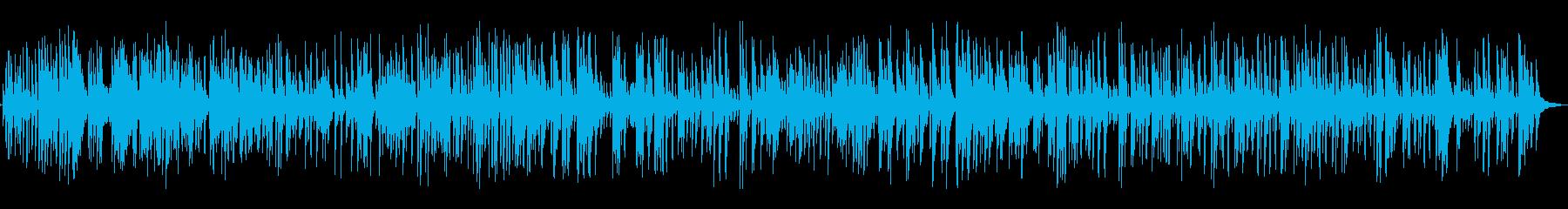 明るくておしゃれカフェ風のジャズピアノの再生済みの波形