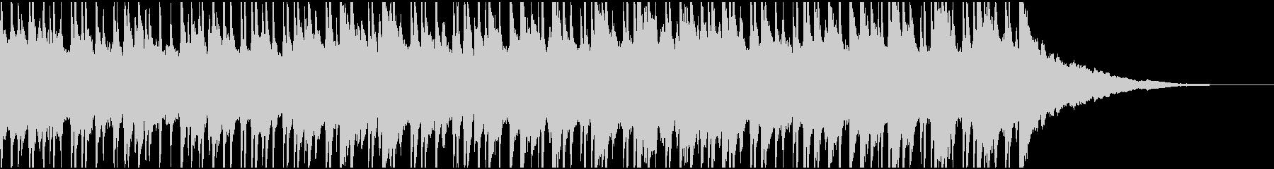 ウクレレ、ピアノの楽しい楽曲60秒Bの未再生の波形