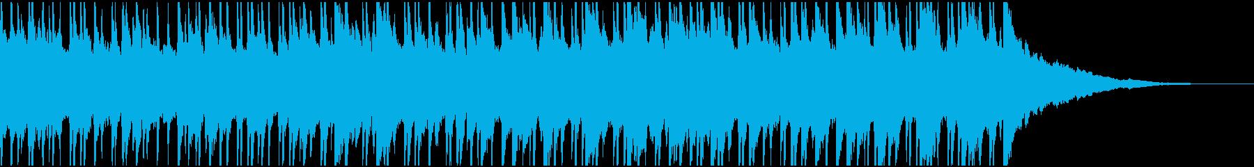 ウクレレ、ピアノの楽しい楽曲60秒Bの再生済みの波形