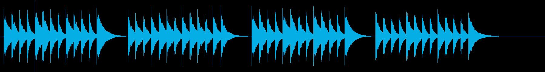 木琴の音色で作った軽快で明るい曲の再生済みの波形