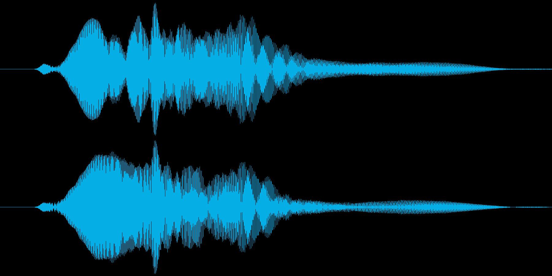 取る風 オノマトペ(下降)ヒョッの再生済みの波形