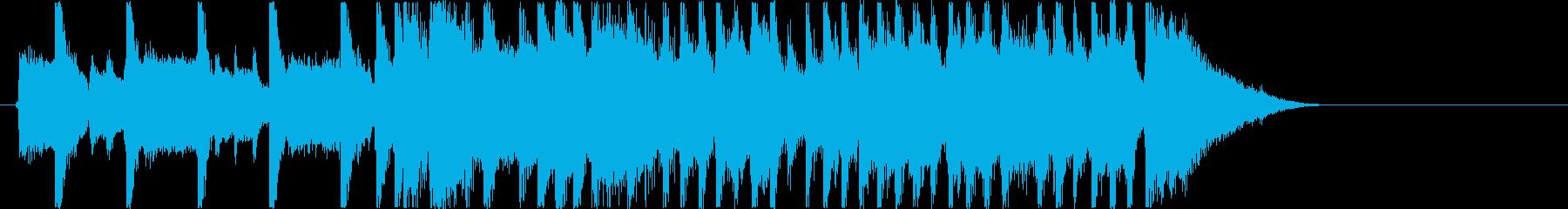 キャッチーでリズミカルなロックジングルの再生済みの波形