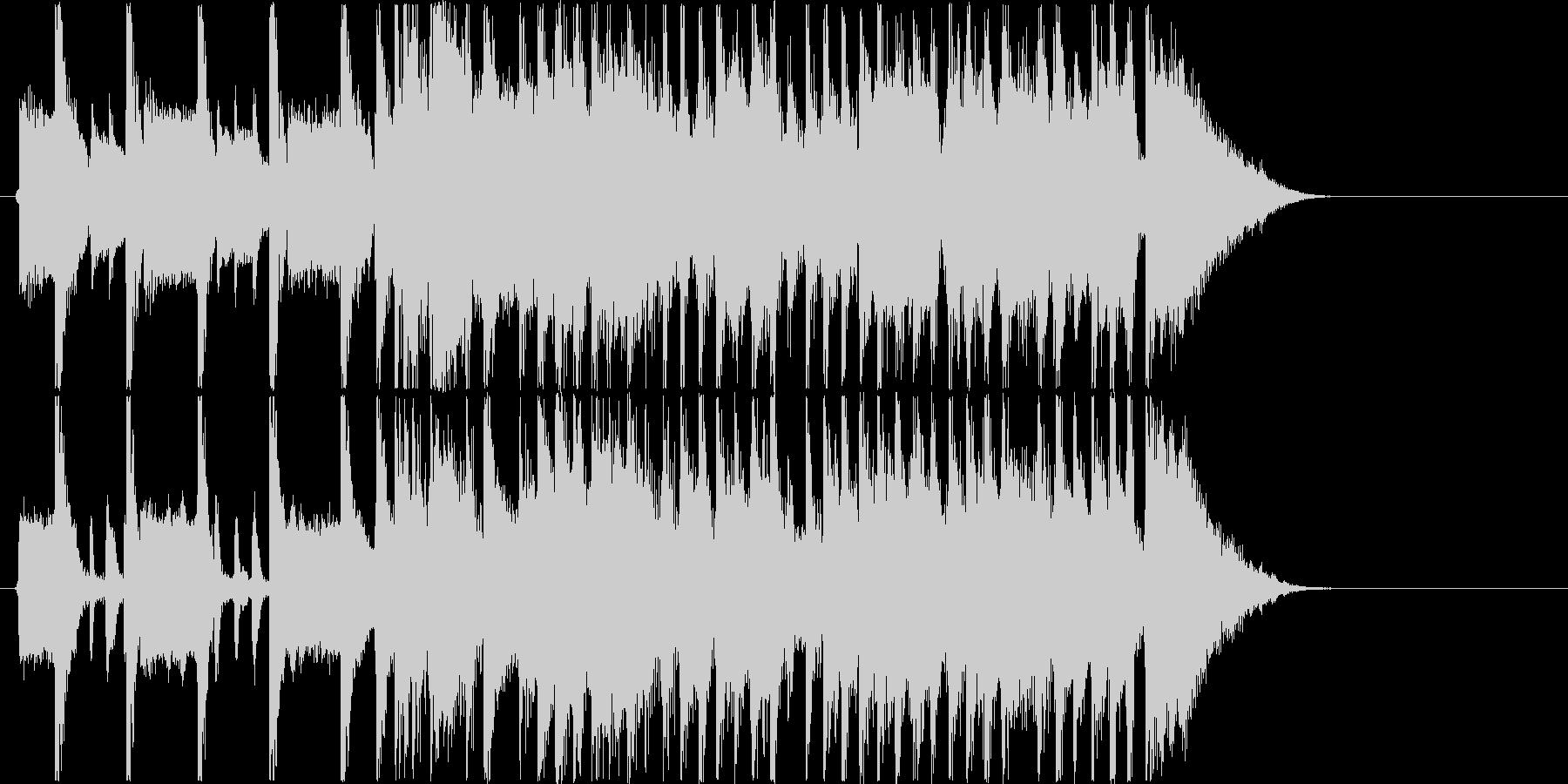 キャッチーでリズミカルなロックジングルの未再生の波形