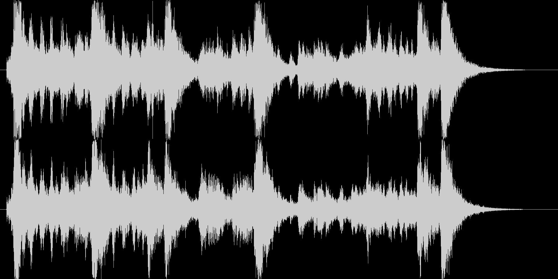 交響曲風なインパクトのある勇ましい曲の未再生の波形
