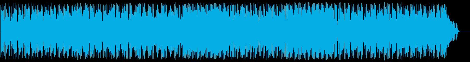 都会的、きらめき感のある楽しいシンセの曲の再生済みの波形