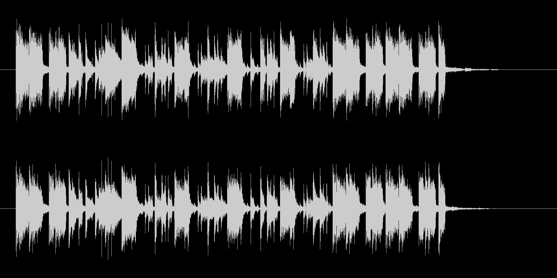 明るく勢いのあるドラムギターサウンドの未再生の波形