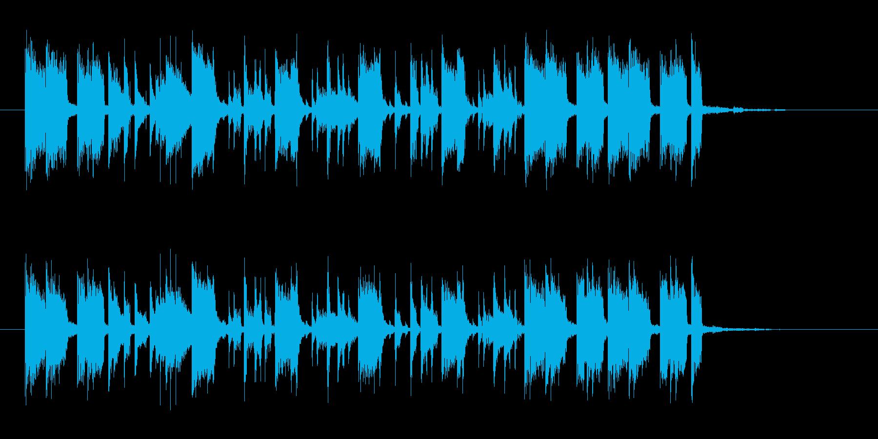 明るく勢いのあるドラムギターサウンドの再生済みの波形