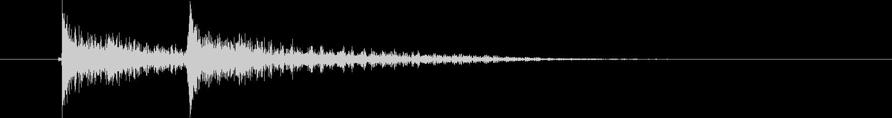 ジャンジャン(決定音、アクシデント)の未再生の波形