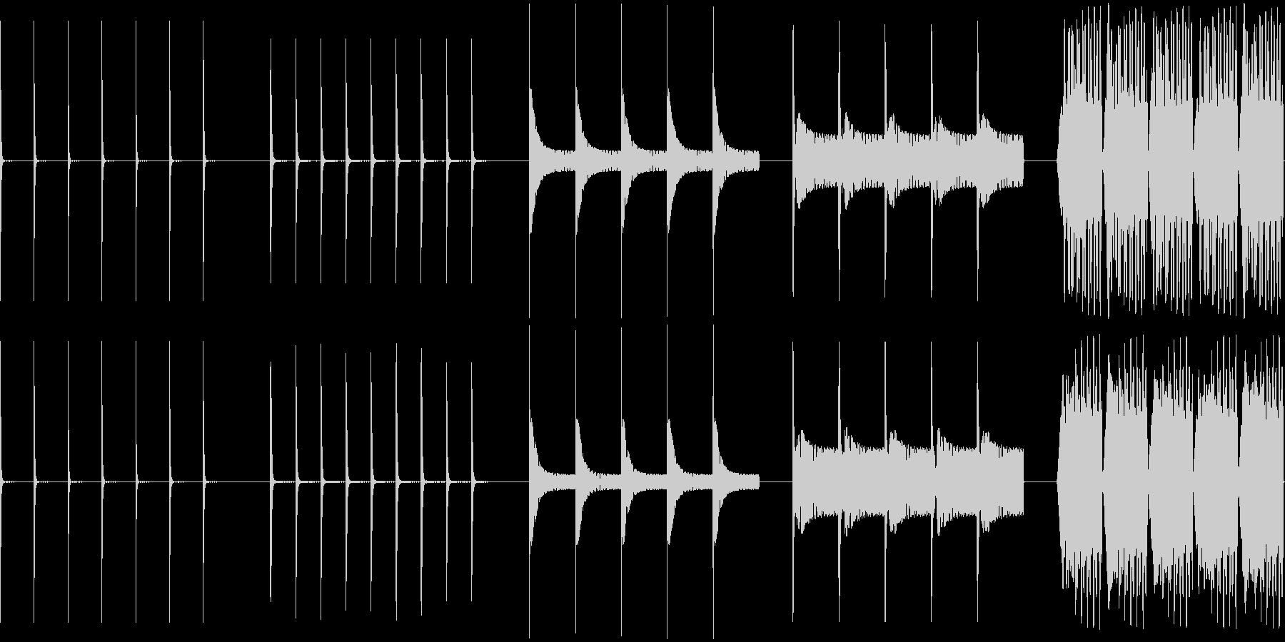 ドロップ、ウェット、5バージョン、...の未再生の波形