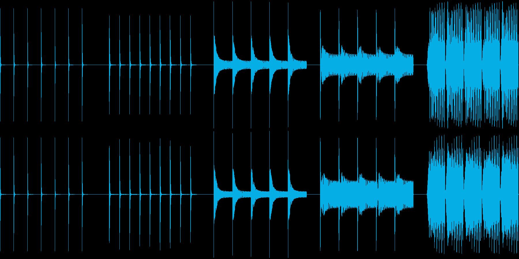 ドロップ、ウェット、5バージョン、...の再生済みの波形