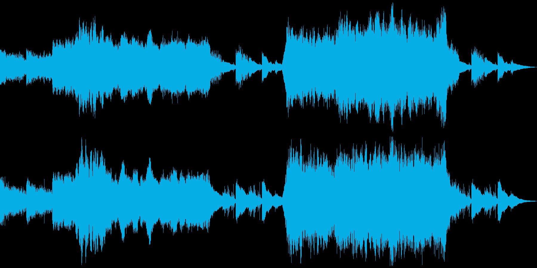 パイプオルガンを使った少し不気味なBGMの再生済みの波形