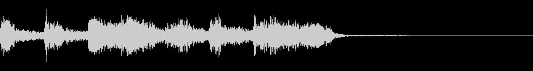 音頭風の短いフレーズの未再生の波形
