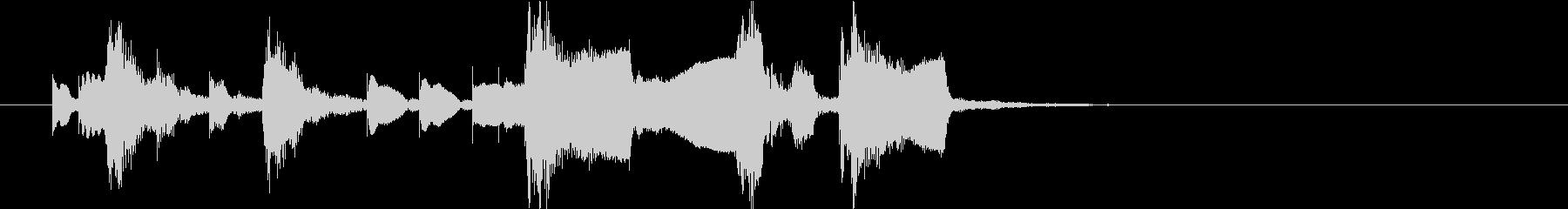 マリンバとグロッケンのほのぼの系ジングルの未再生の波形