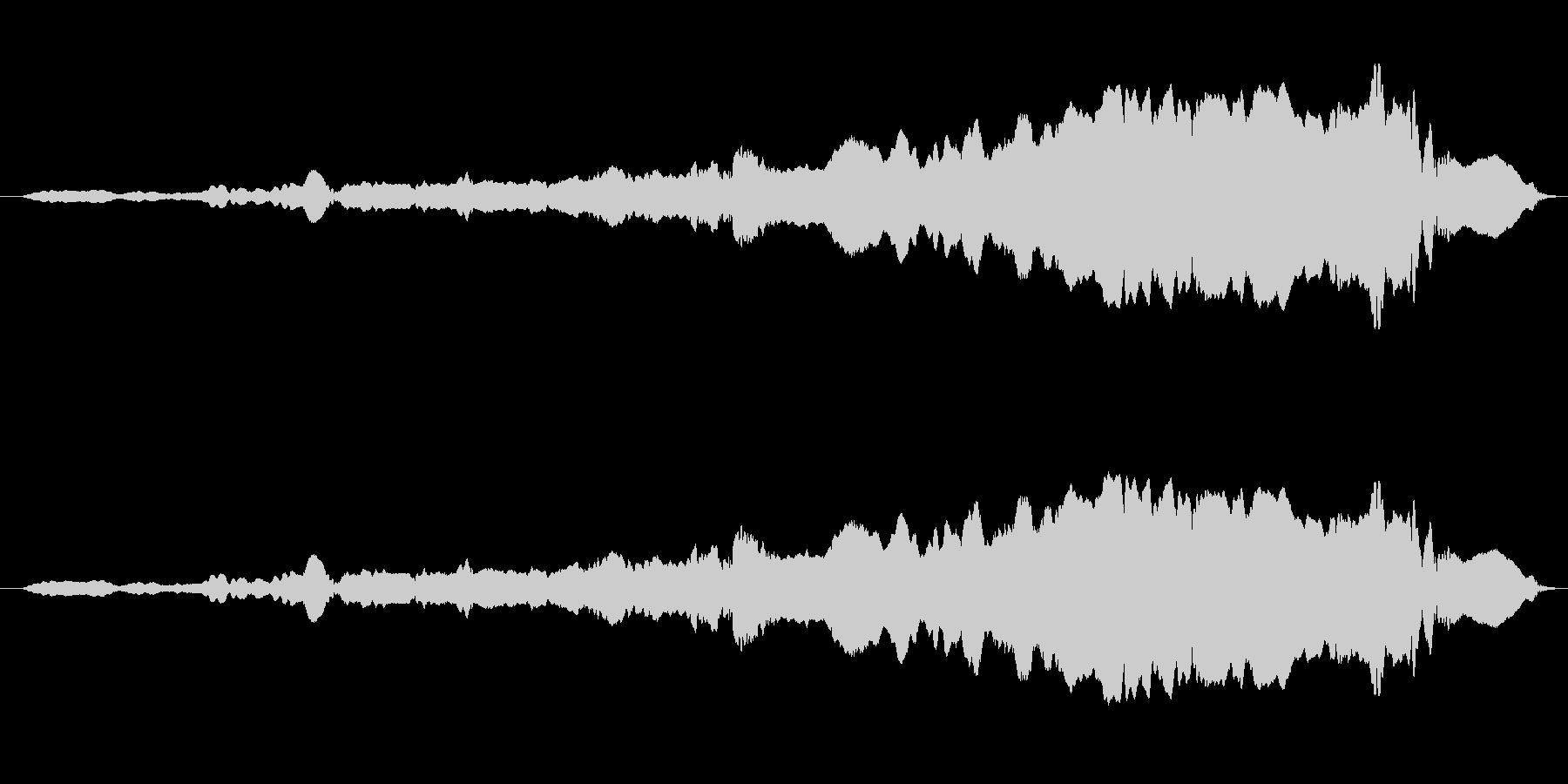 幽霊登場 スライドホイッスルの未再生の波形