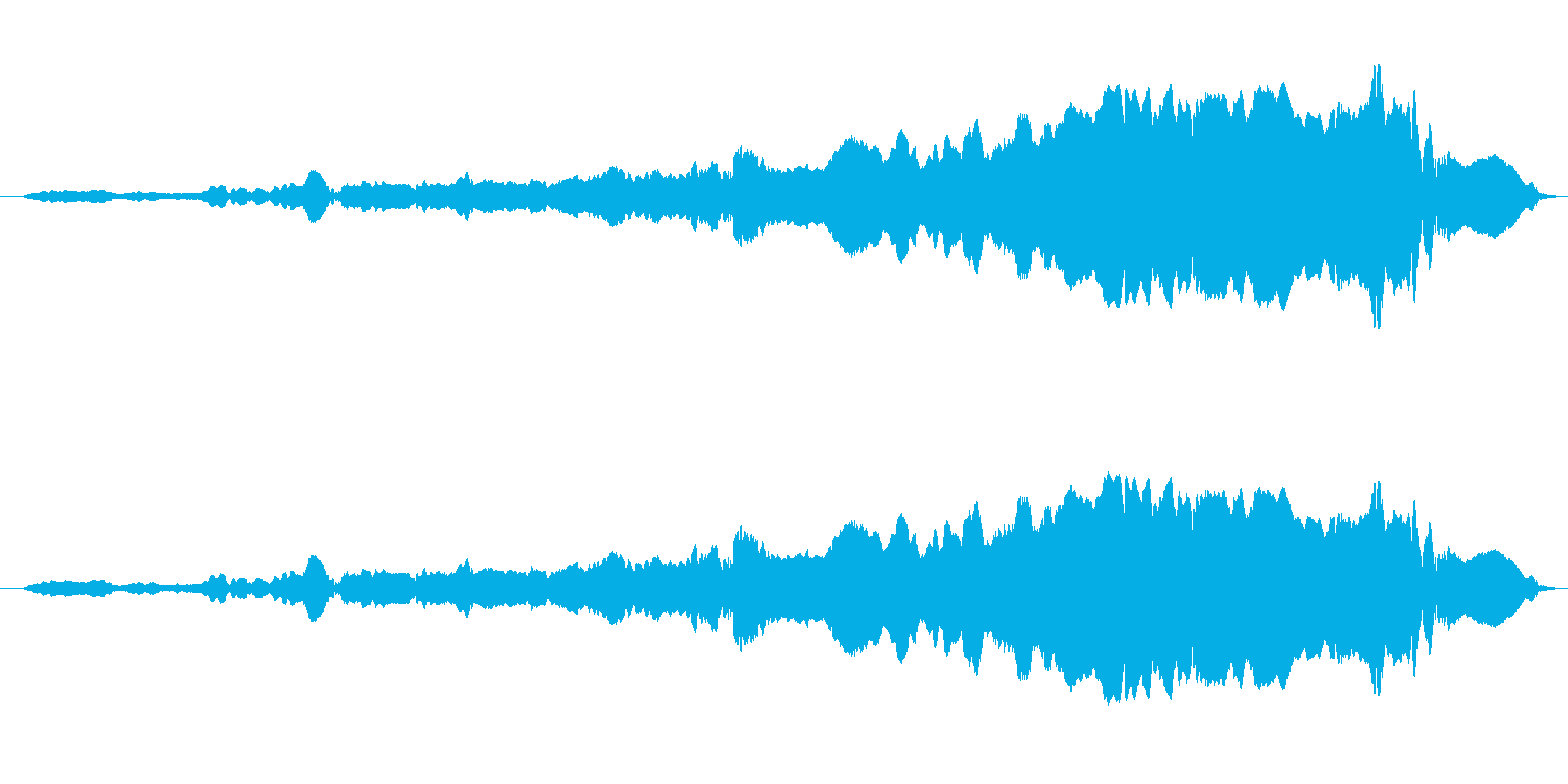幽霊登場 スライドホイッスルの再生済みの波形