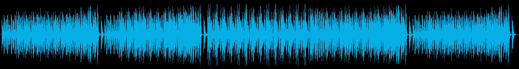 ピアノのみ使用したラグタイムですの再生済みの波形