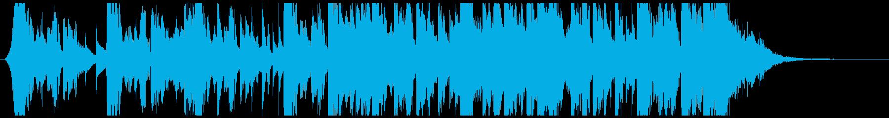 ジングルに適したフューチャー系サウンドの再生済みの波形
