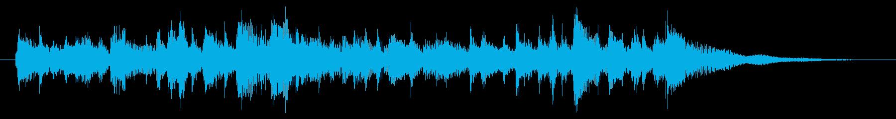 A refreshing and gentle bossa nova jingle's reproduced waveform