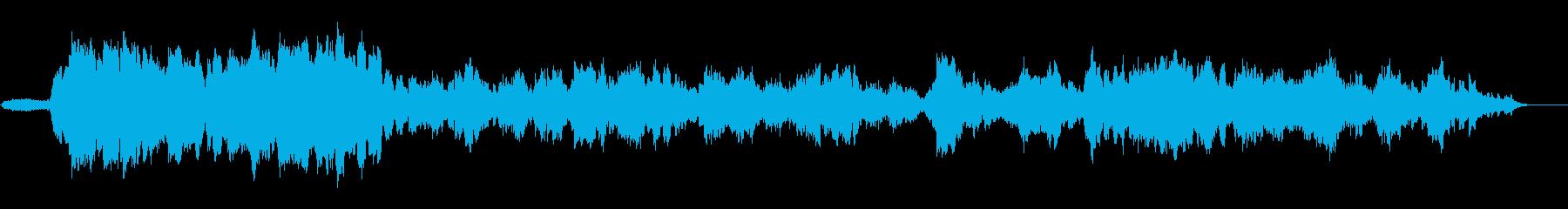 アジアの音とタッチまたは古い西の緊...の再生済みの波形