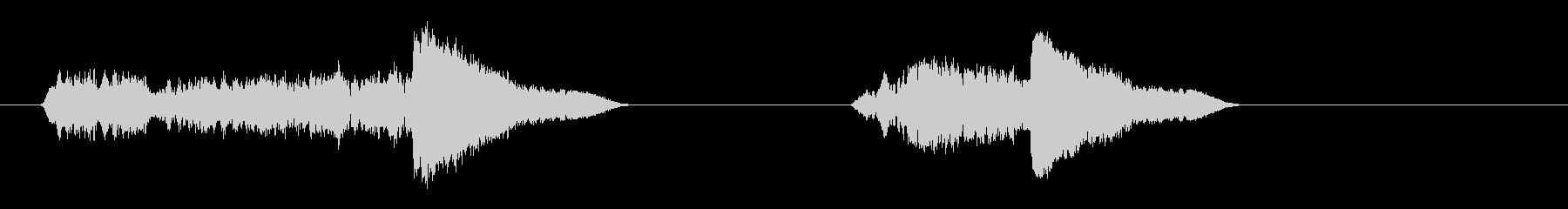 ホイッスル-落下-2バージョンの未再生の波形