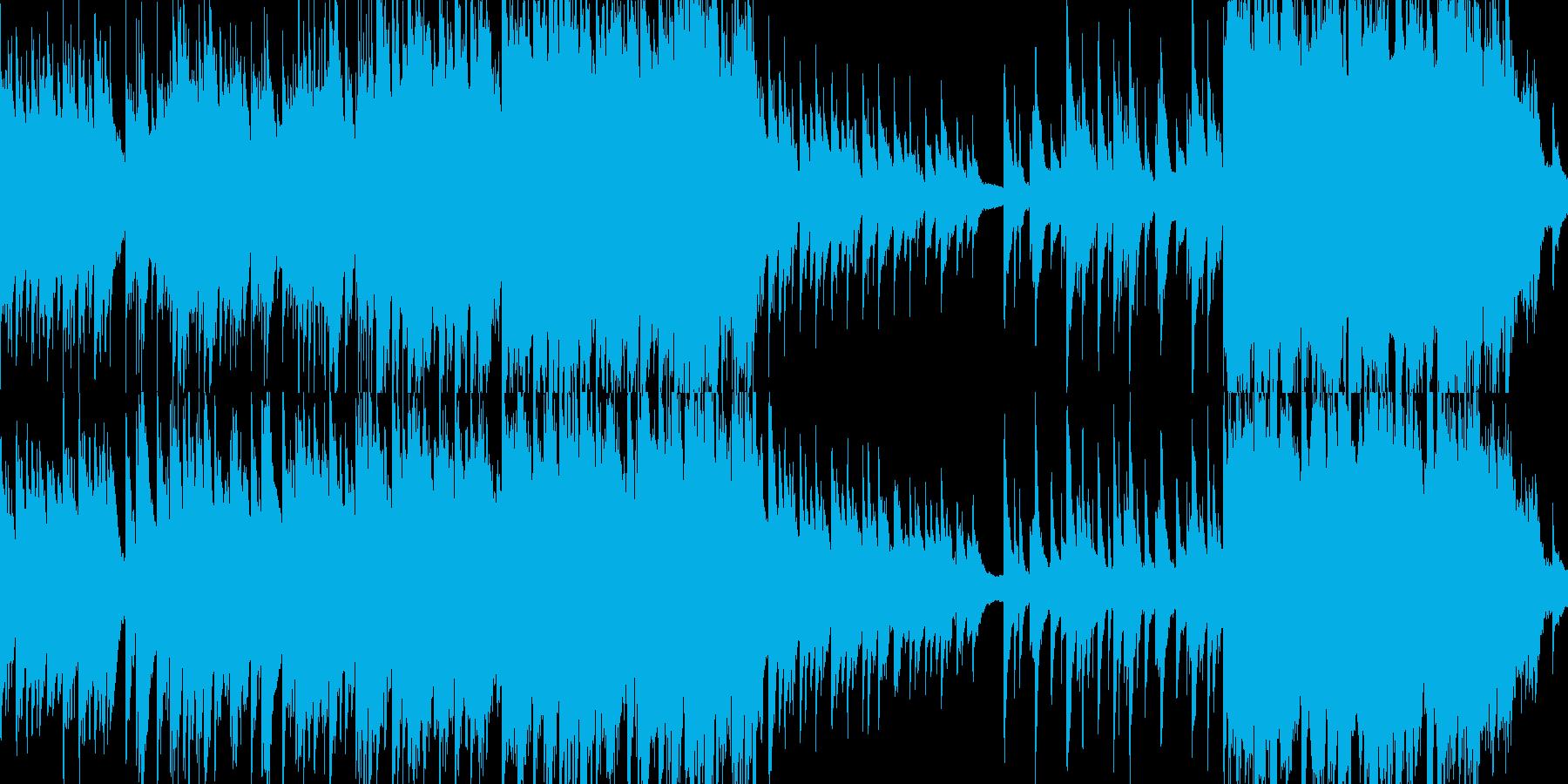 綺麗なピアノとストリングス ループ版の再生済みの波形