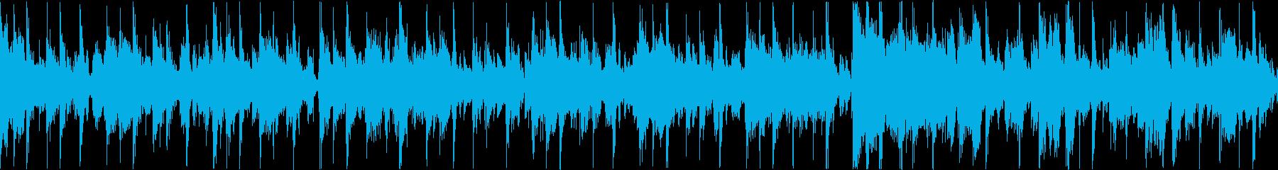 ファンクギターのクールなトラックの再生済みの波形