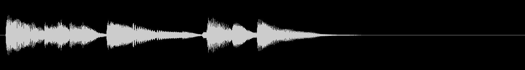 朝のニュース風〜爽やかなピアノジングルの未再生の波形