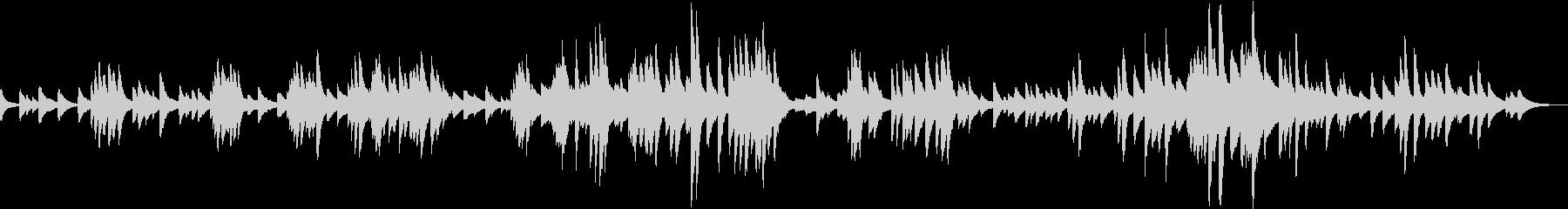 G線上のアリア ジャズ風アレンジ ピアノの未再生の波形