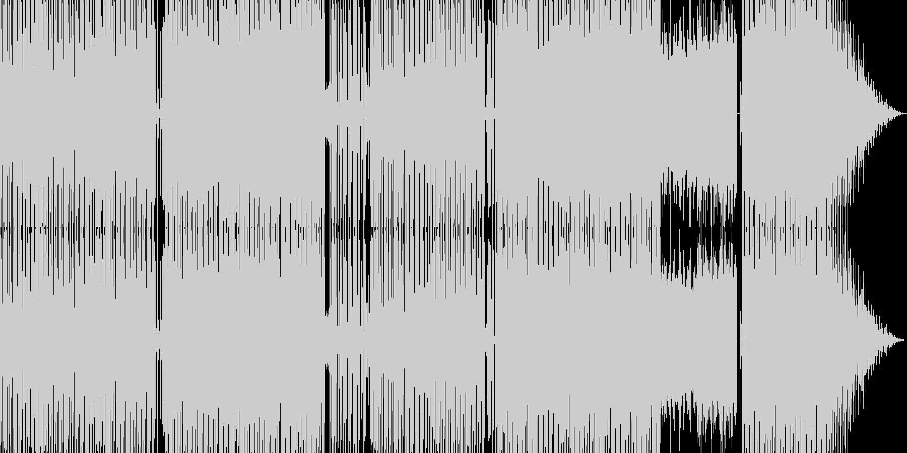 グランドコーラスが印象的なテクノの未再生の波形