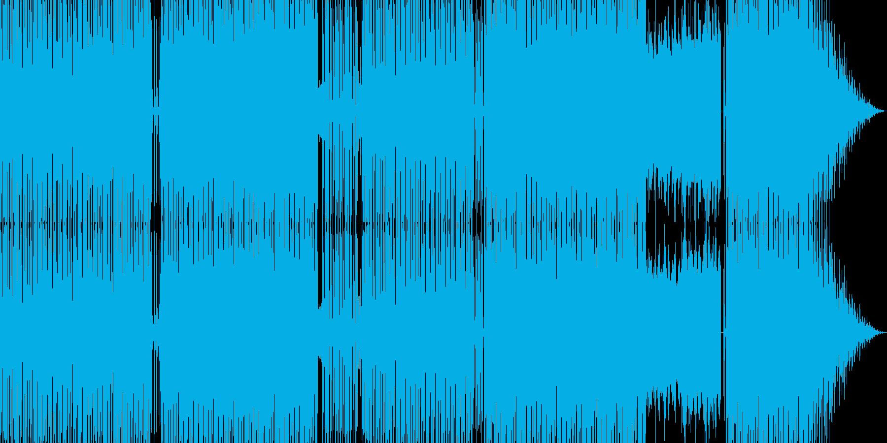 グランドコーラスが印象的なテクノの再生済みの波形