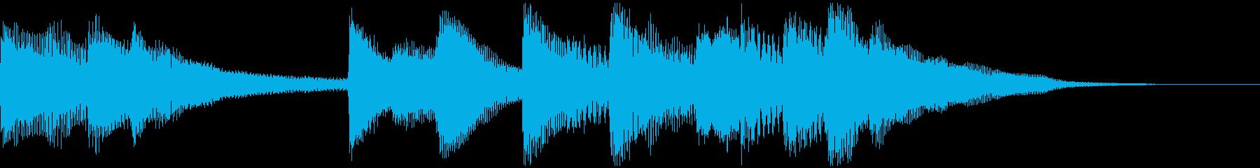 シンプルなピアノのジングルの再生済みの波形