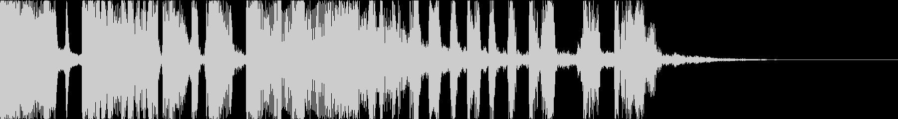 ファンキーなdjスクラッチ・ジングルbの未再生の波形