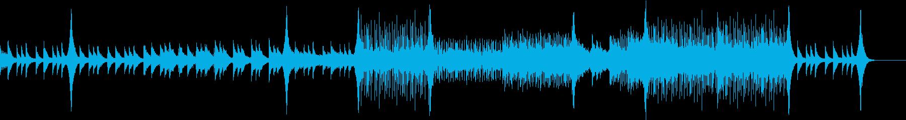 ピアノとストリングスの幻想的な雰囲気の再生済みの波形