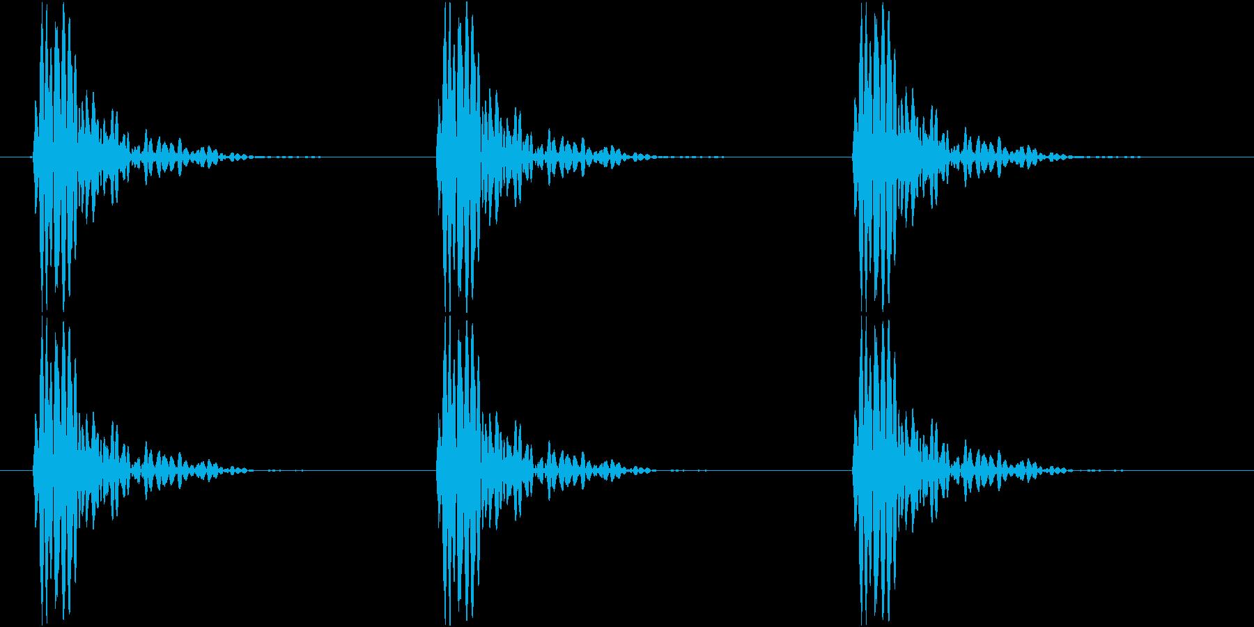 ドンドンドン(ノックする、ゆっくり)の再生済みの波形