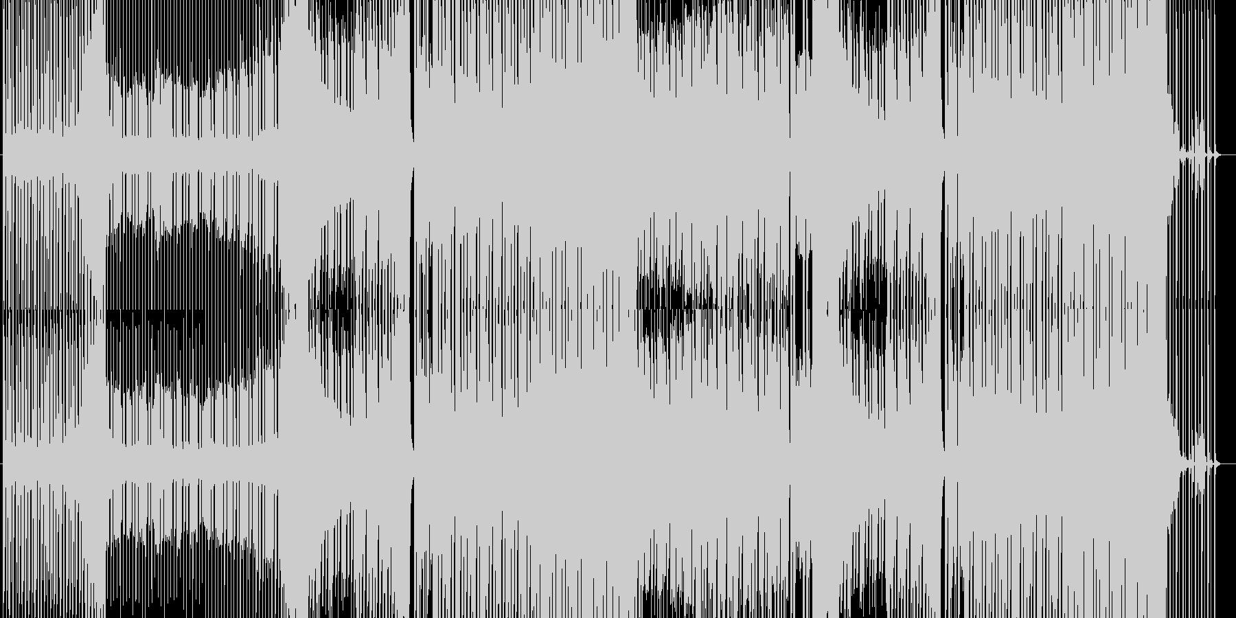陽気でノリのいいEDMの未再生の波形