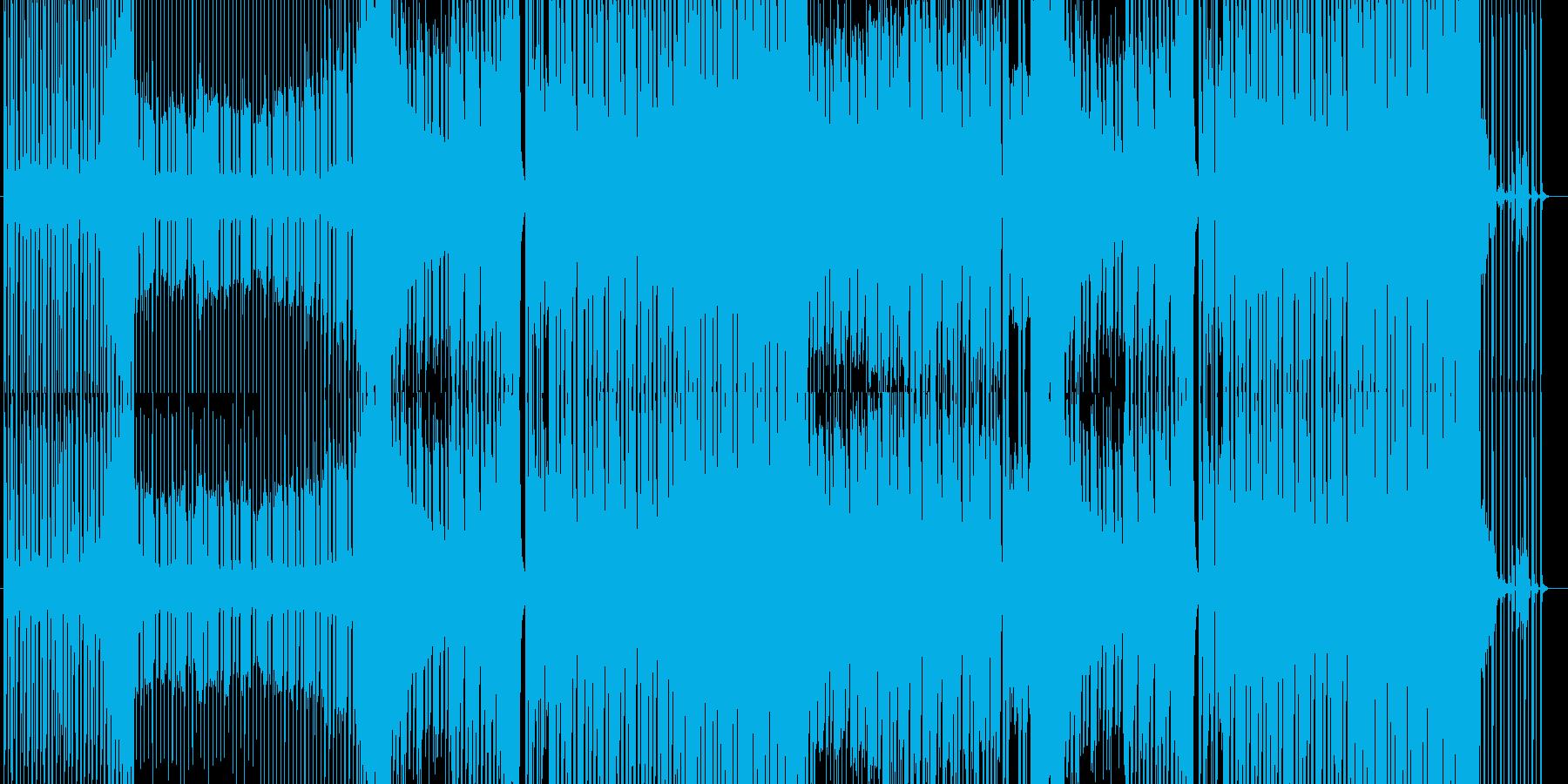 陽気でノリのいいEDMの再生済みの波形