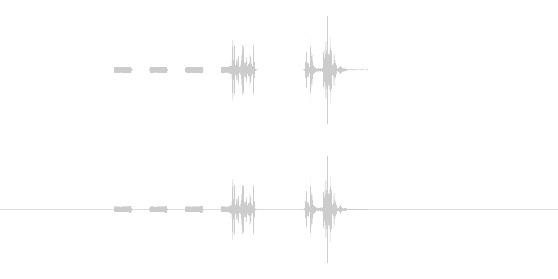 デジカメ風シャッター音_06の未再生の波形