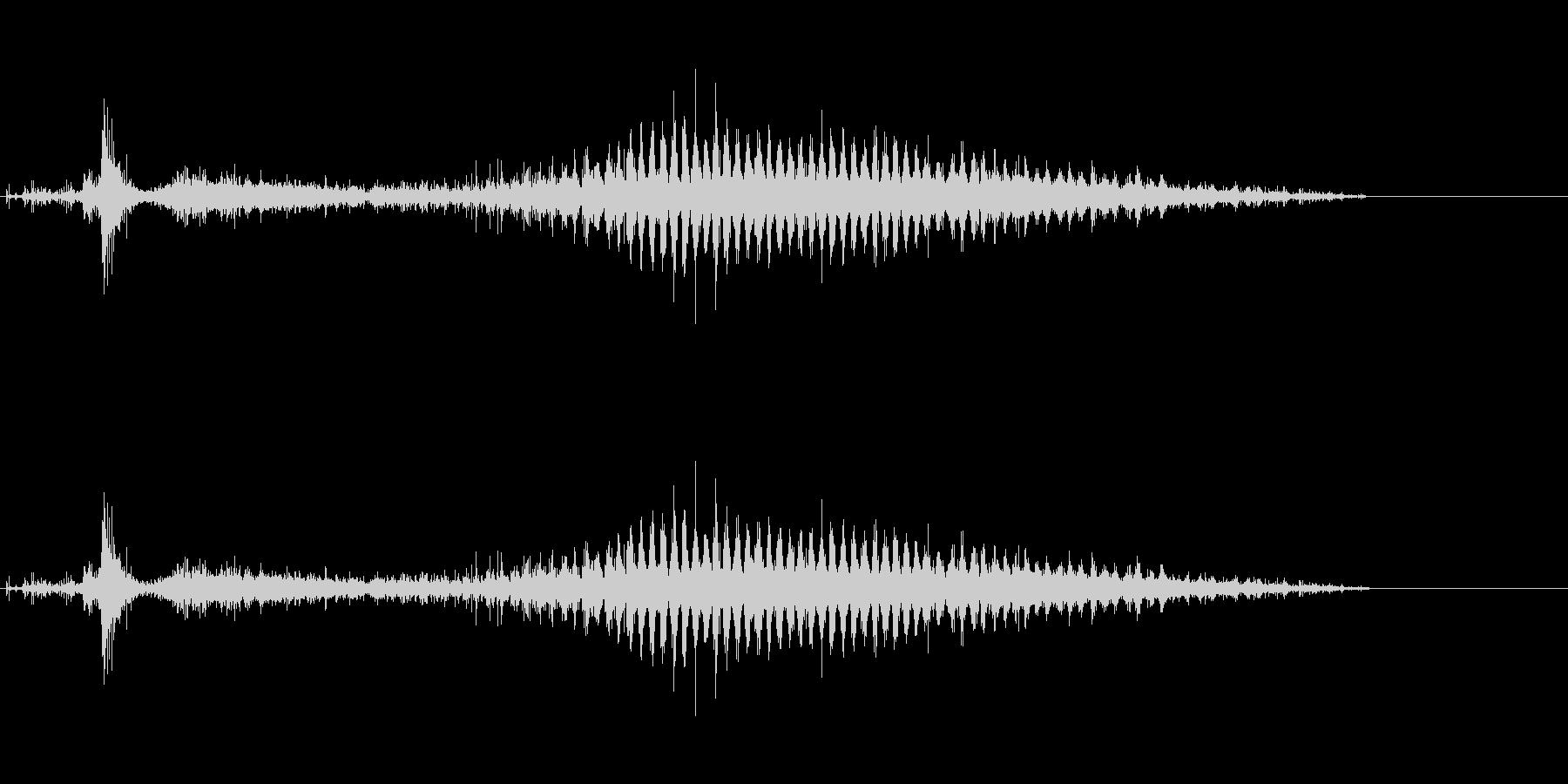 「シャラ〜」レインシェーカー水音リバーブの未再生の波形