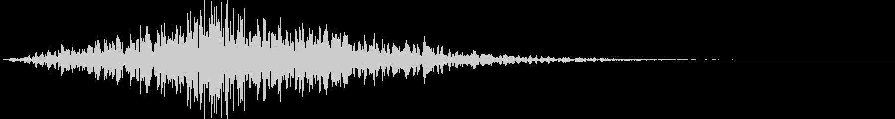 どーんシューッ:かっこいいオープニング音の未再生の波形