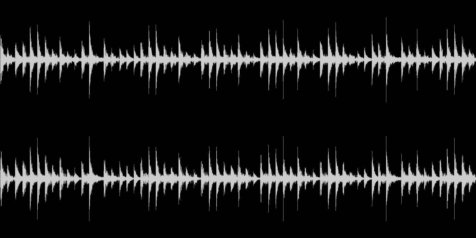 ドラムループ の未再生の波形
