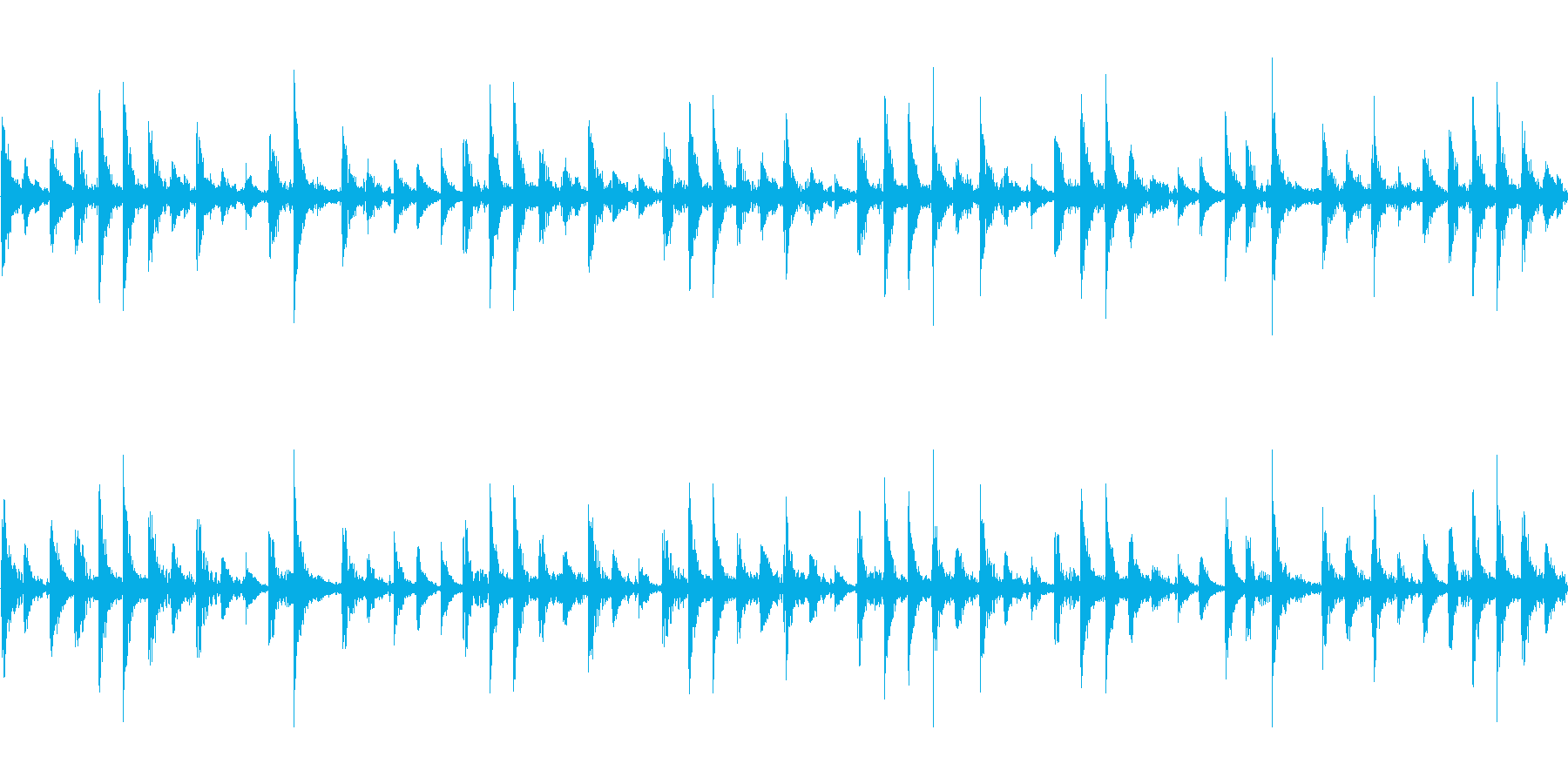 ドラムループ の再生済みの波形