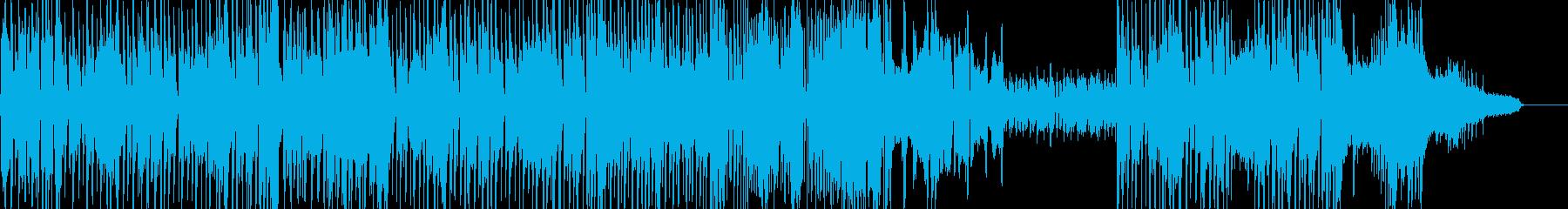 オシャレでカフェテイストなジャズの再生済みの波形