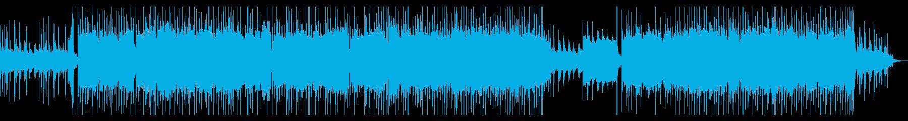 ちょっと気だるく優しい壮大なイメージ曲の再生済みの波形