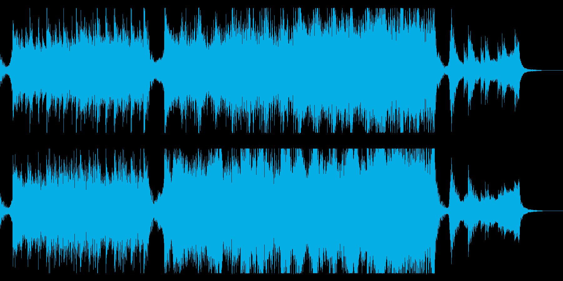 ハリウッド映画風の壮大オーケストラ12Bの再生済みの波形