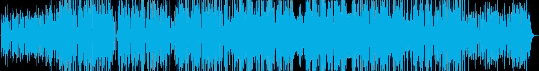 シンプルなシンセリードのダンスナンバーの再生済みの波形