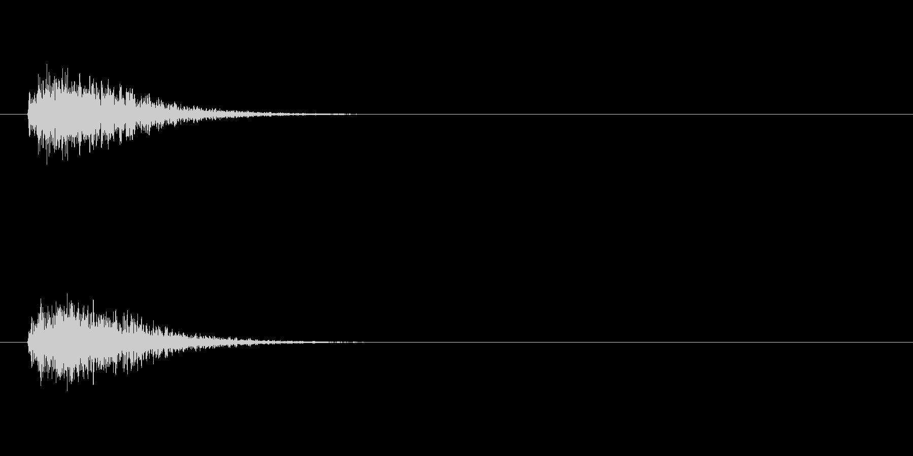リバーブ付きマルチメディア要素高周...の未再生の波形